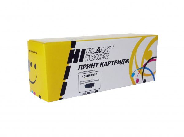 Тонер-картридж HB-106R01633 Hi-Black для Xerox Phaser 6000/6010/WC6015, Yellow, 1000 копий